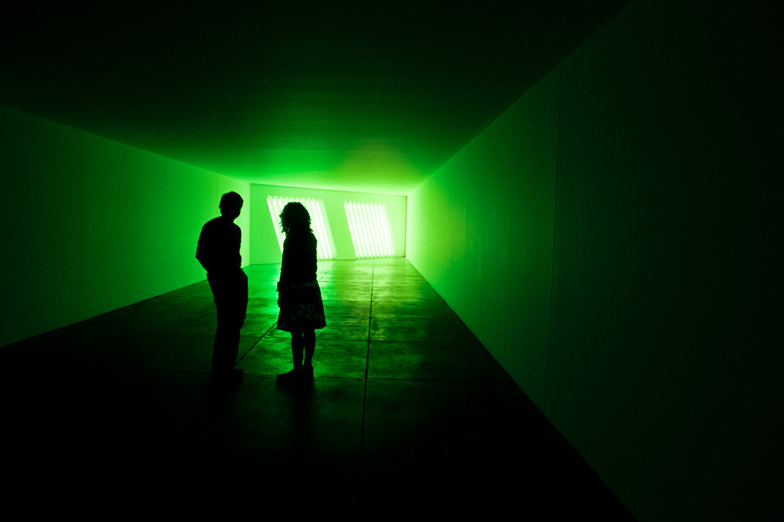 U.S.A, Texas. Marfa-Chinati Fund, Untitled Project by Dan Flavin