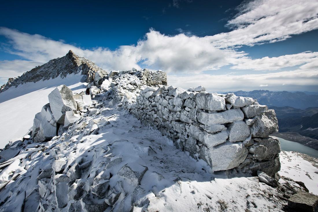Adamello Lares dry stone wall