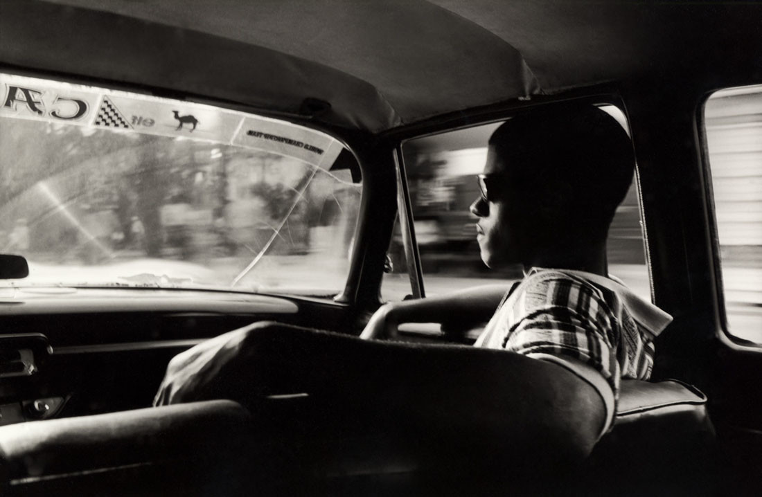 Musician in a car